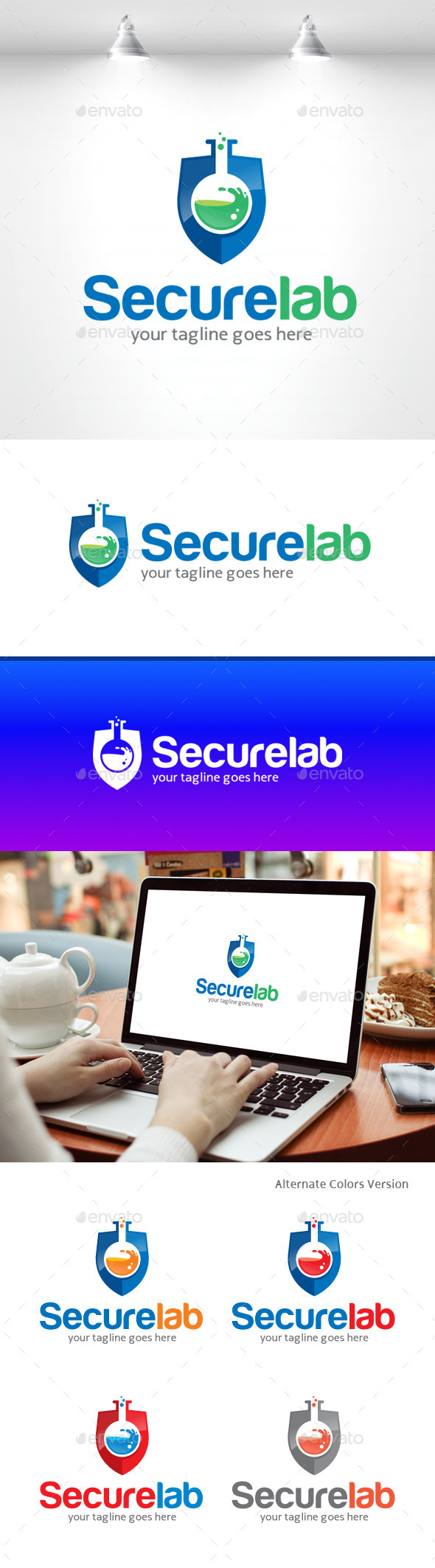GraphicRiver Secure Lab Logo 11369842