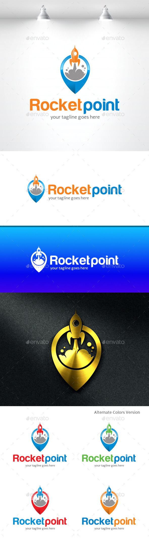 GraphicRiver Rocket Point Logo 11369872