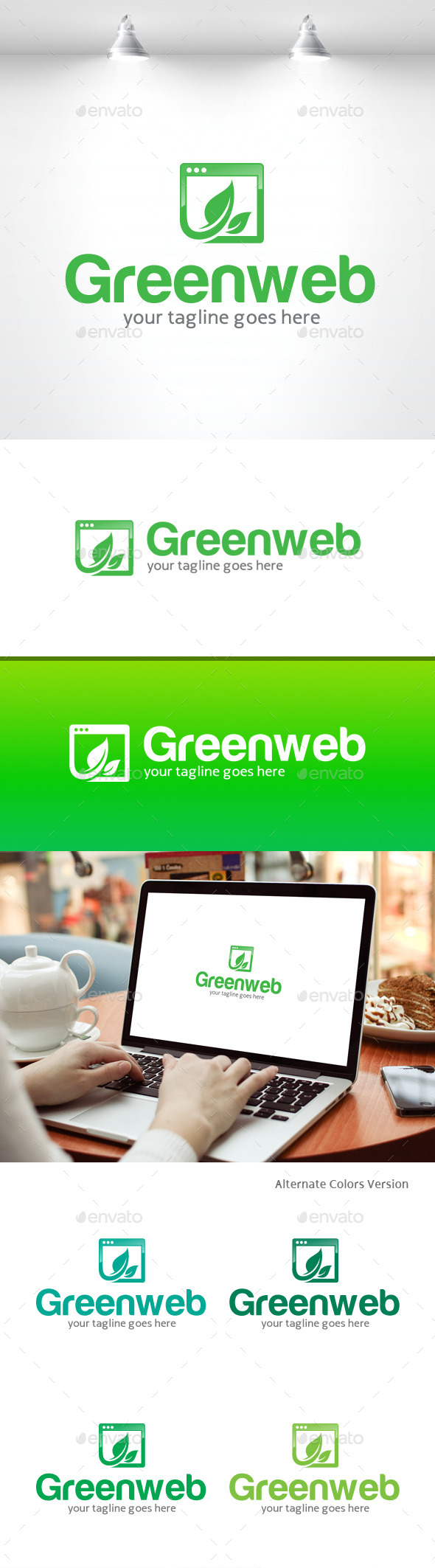GraphicRiver Green Web Logo 11369901