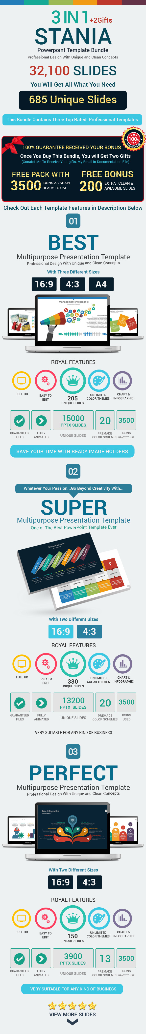 GraphicRiver 3 Stania Powerpoint Template Bundle 11369933
