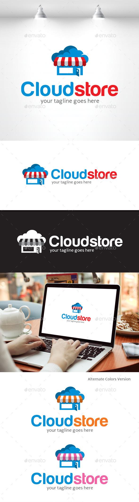 GraphicRiver Cloud Store Logo 11369932