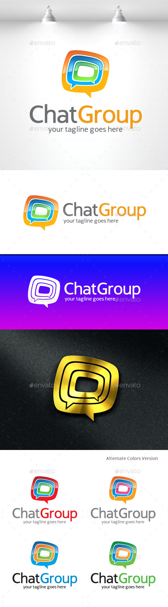 GraphicRiver Chat Group Logo 11370035