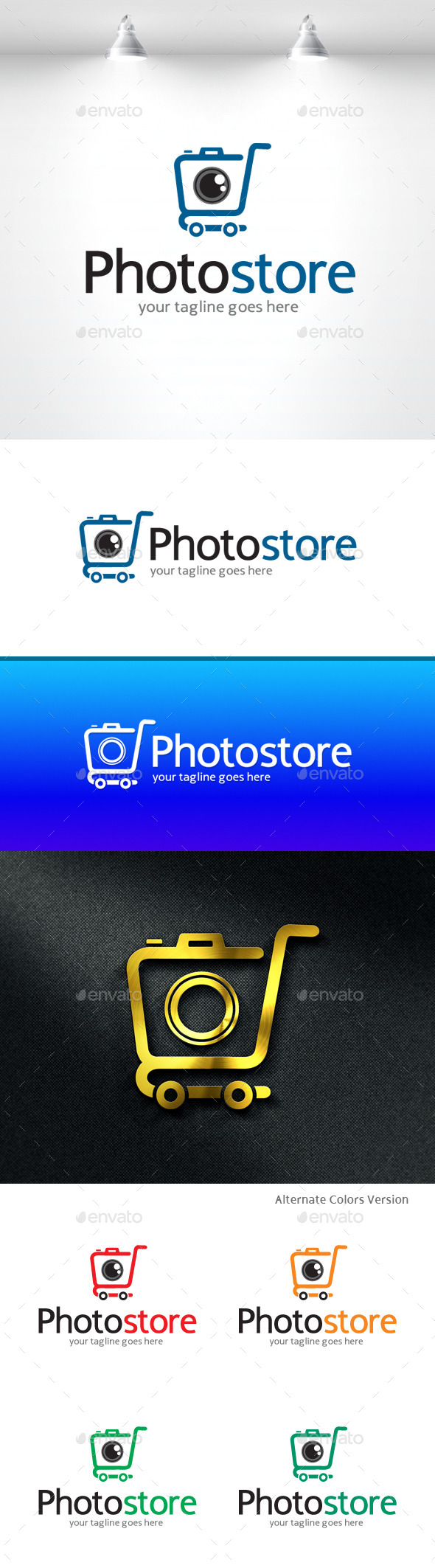 GraphicRiver Photo Store Logo 11370050