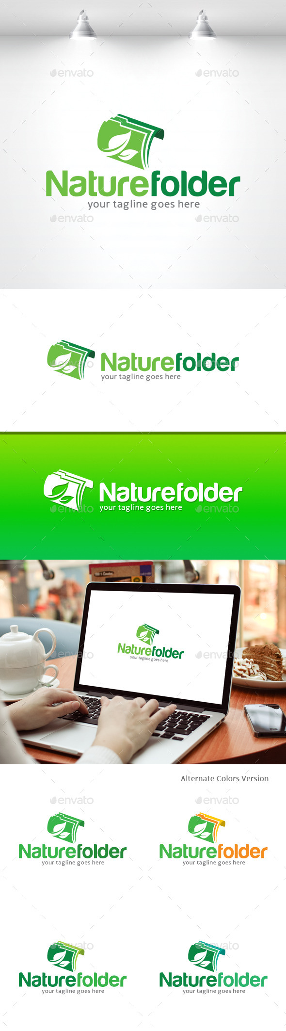 GraphicRiver Nature Folder Logo 11370208