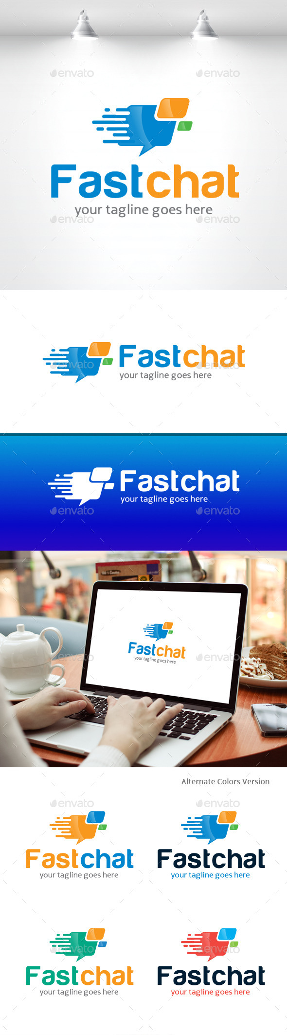 GraphicRiver Fast Chat Logo 11370228