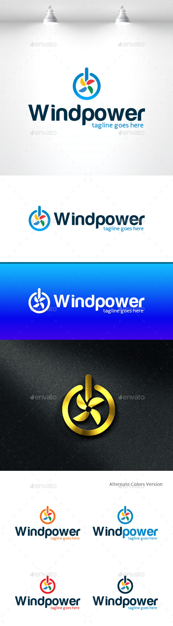 GraphicRiver Wind Power Logo 11370248