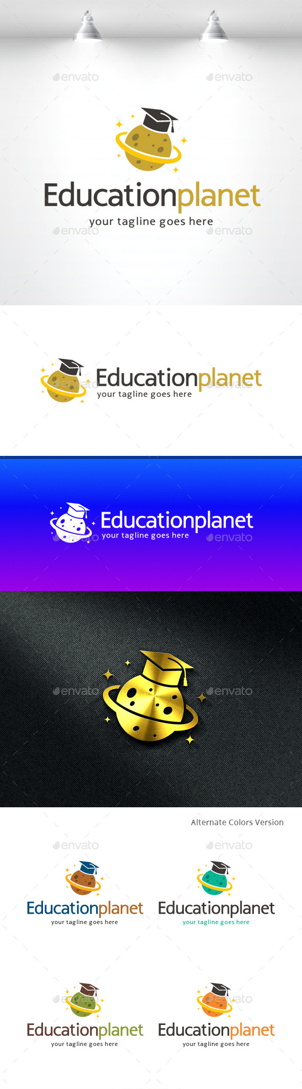 GraphicRiver Education Planet Study Logo 11370266