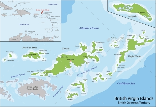 GraphicRiver British Virgin Islands Map 11370286