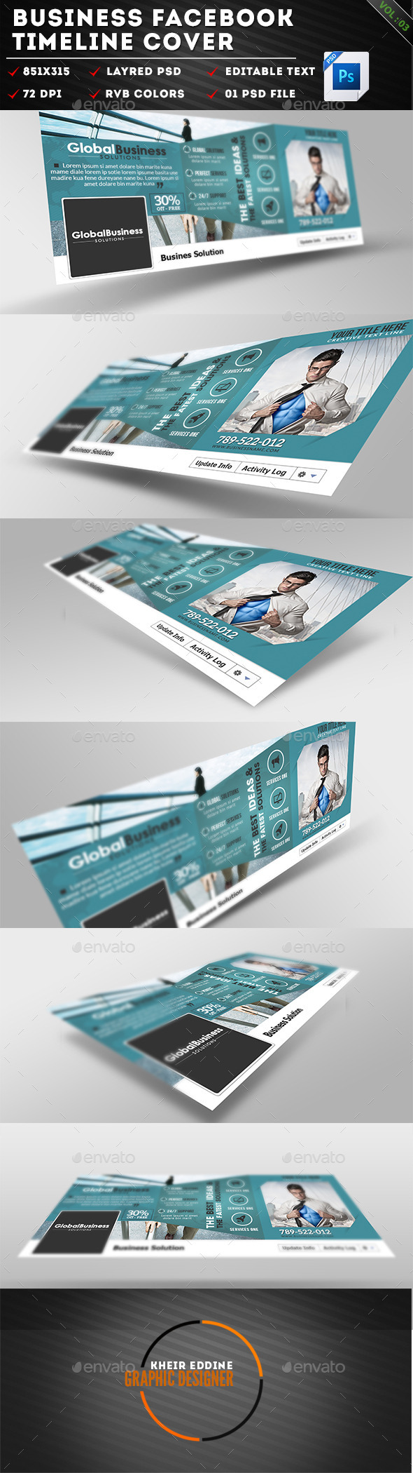 GraphicRiver Corporate Business Facebook Timeline Covers Vol 03 11370314