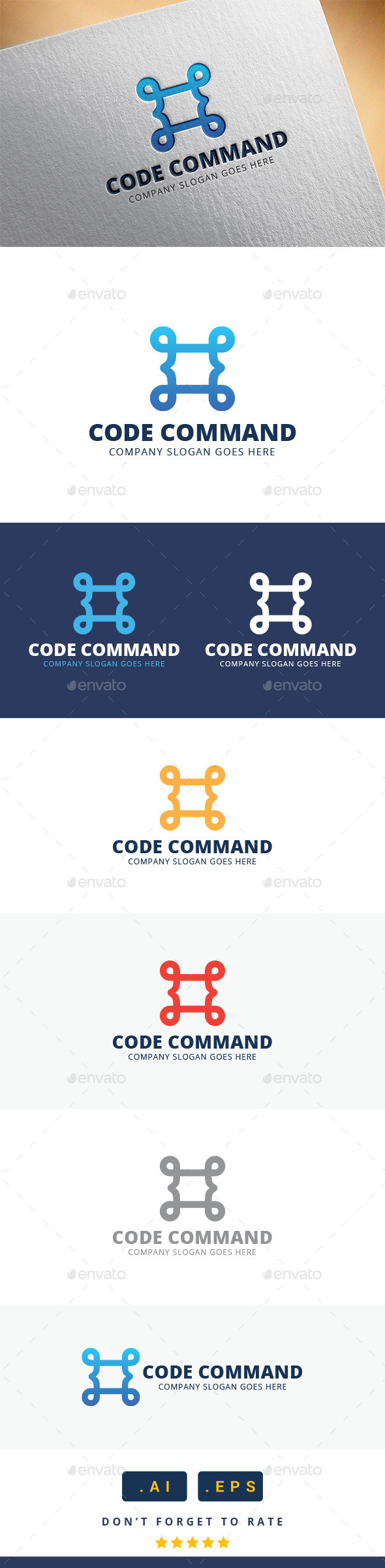GraphicRiver Code Command Logo 11370355