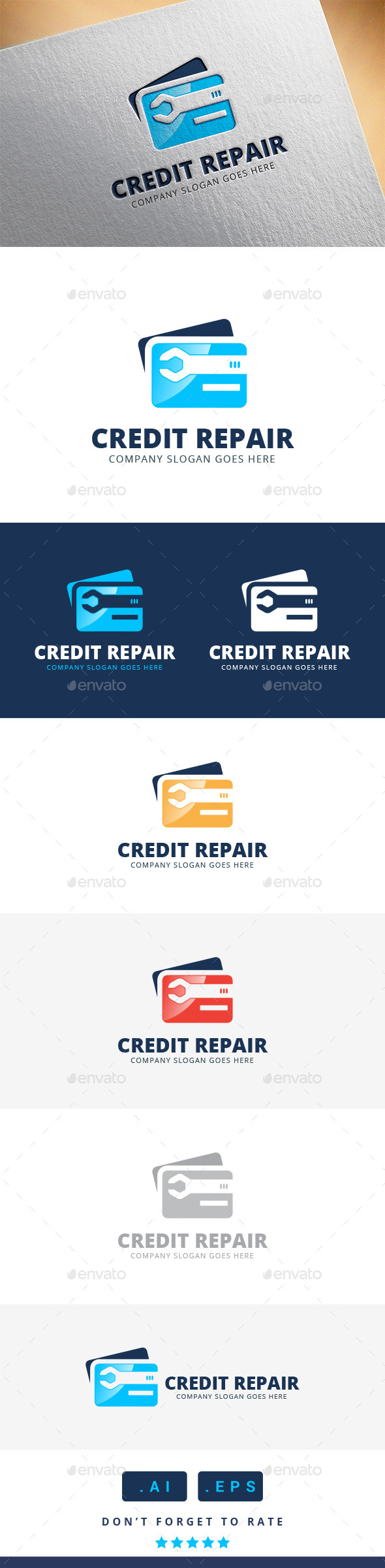 GraphicRiver Credit Repair Logo 11370392