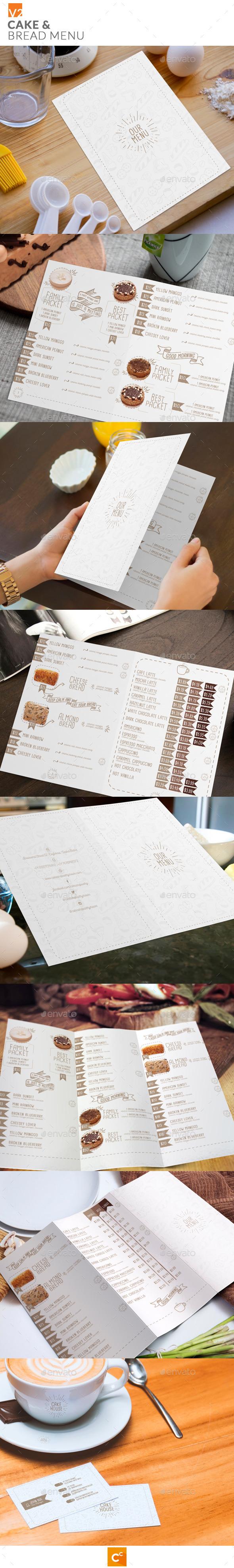 GraphicRiver Cake & Bread Menu v2 11370393