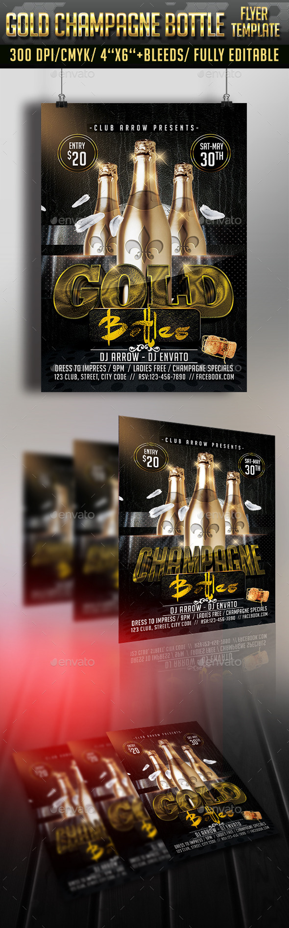 GraphicRiver Gold Bottle Flyer Template 11307411