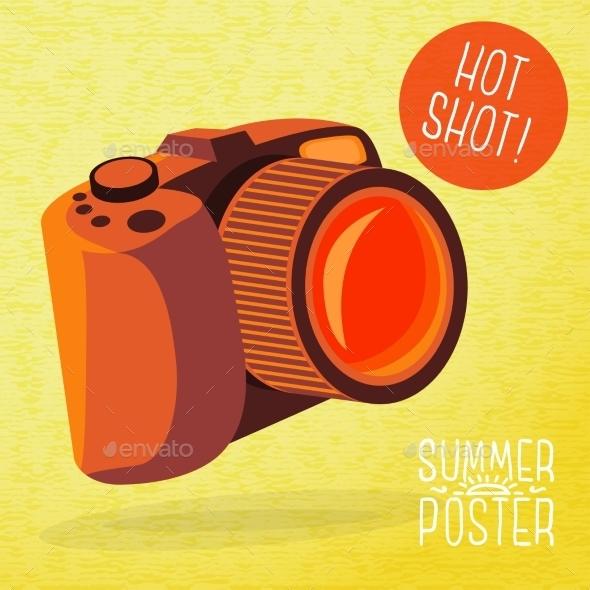GraphicRiver Cute Summer Poster Photo Camera Shots 11371399