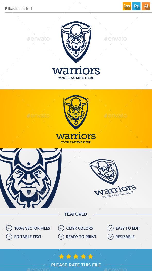 GraphicRiver Warrior Logo 11371453