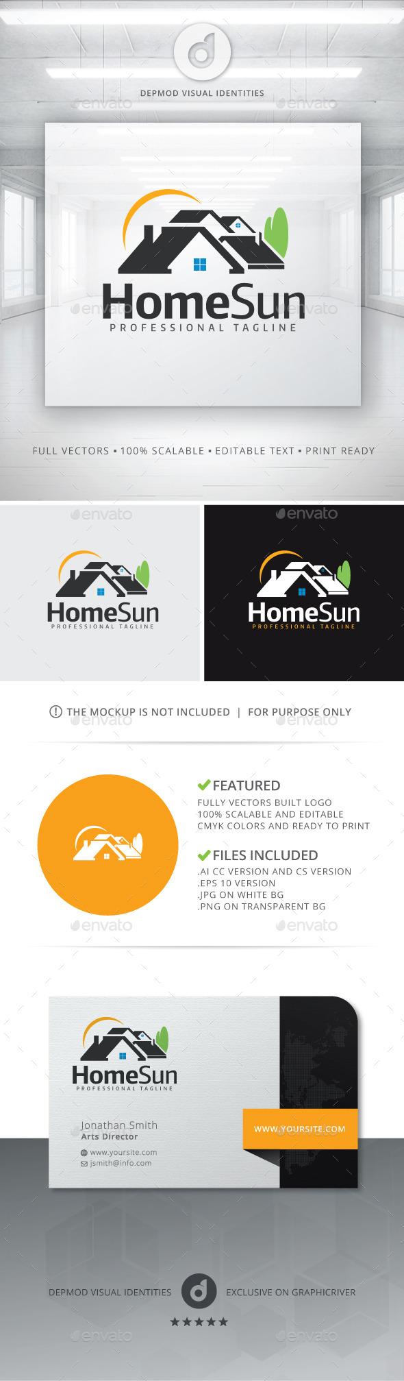 GraphicRiver Home Sun Logo 11371486
