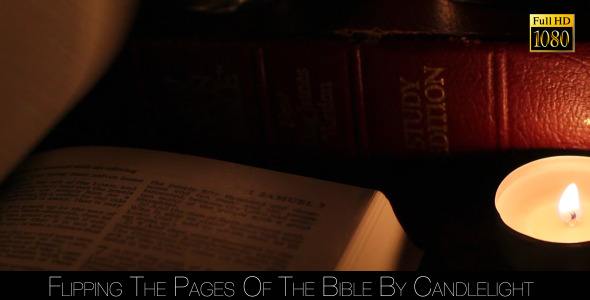 Flipping The Pages Of The Bible By Candlelight 2