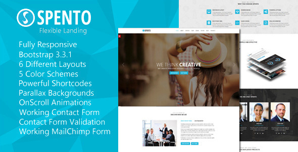 ThemeForest Spento Flexible and Multi-Purpose Landing Page 11026909
