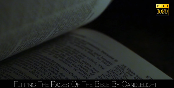 Flipping The Pages Of The Bible By Candlelight 3