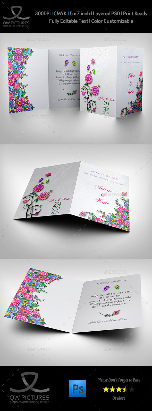 GraphicRiver Wedding Invitation Card Template Vol.11 11371890