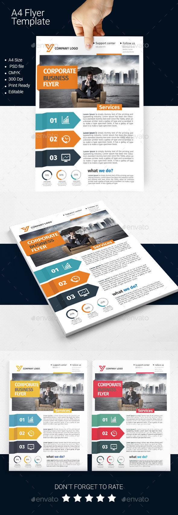 GraphicRiver A4 Business Flyer Template 08 11371905