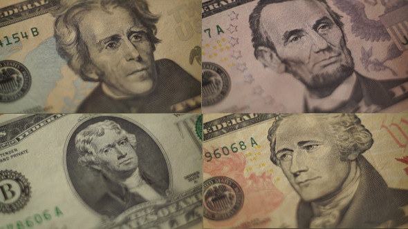 Money USA Dollars 5