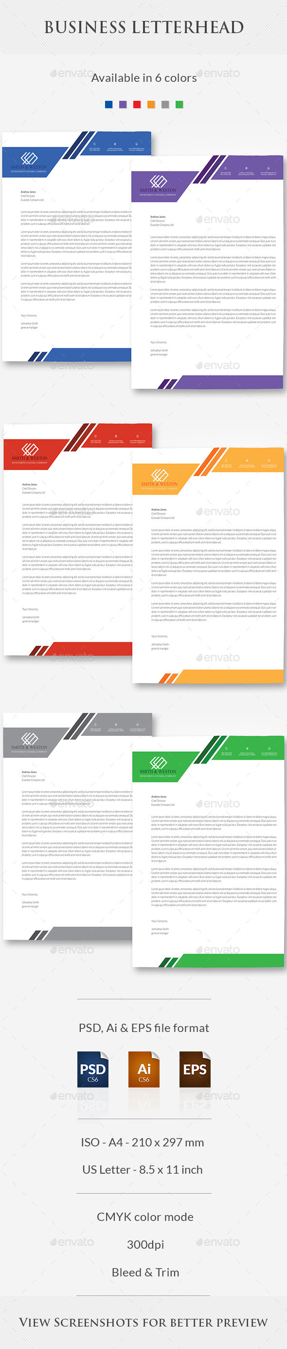 GraphicRiver Business Letterhead 11372081