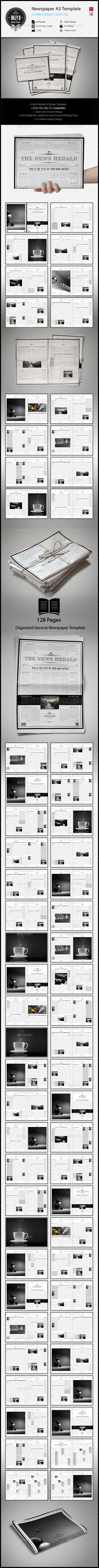 GraphicRiver Newspaper A3 Template 11372142