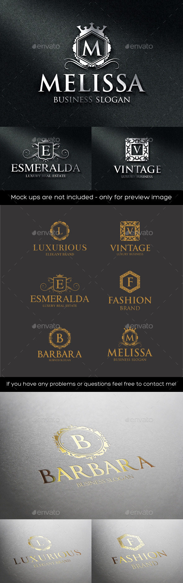 GraphicRiver Luxurious Elegant Vintage Boutique Logos 11372277