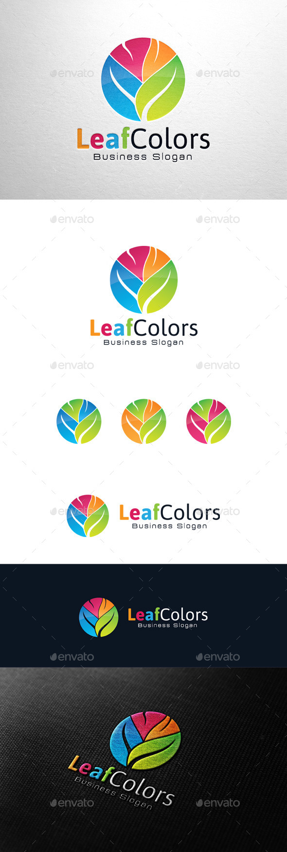 GraphicRiver Leaf Colors Logo 11372548