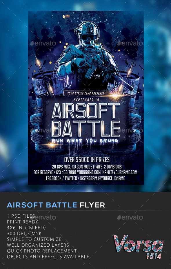 GraphicRiver Airsoft Battle Flyer 11372581