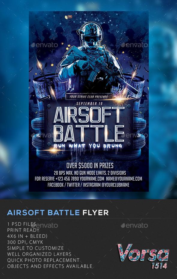 GraphicRiver Airsoft Battle Flyer 11372581