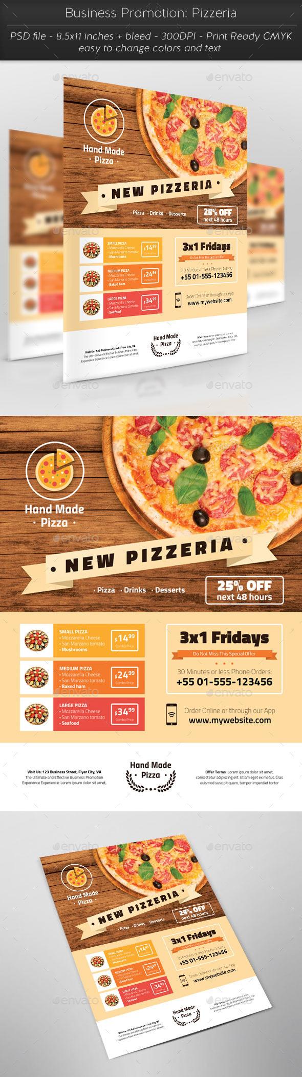 GraphicRiver Business Promotion Pizzeria 11372687