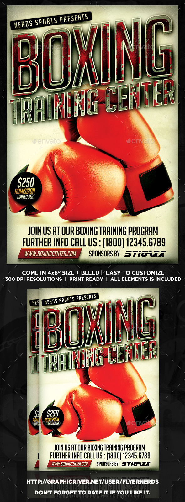 GraphicRiver Boxing Training Center Sports Flyer 11372693