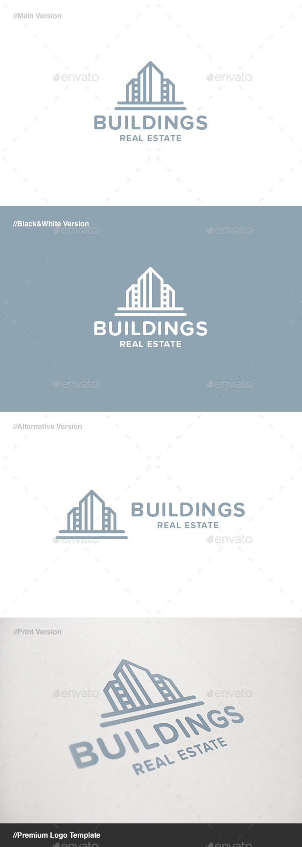 GraphicRiver Buildings Real Estate Logo 11372907