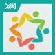 Eco Star Club - Human Network Logo - GraphicRiver Item for Sale