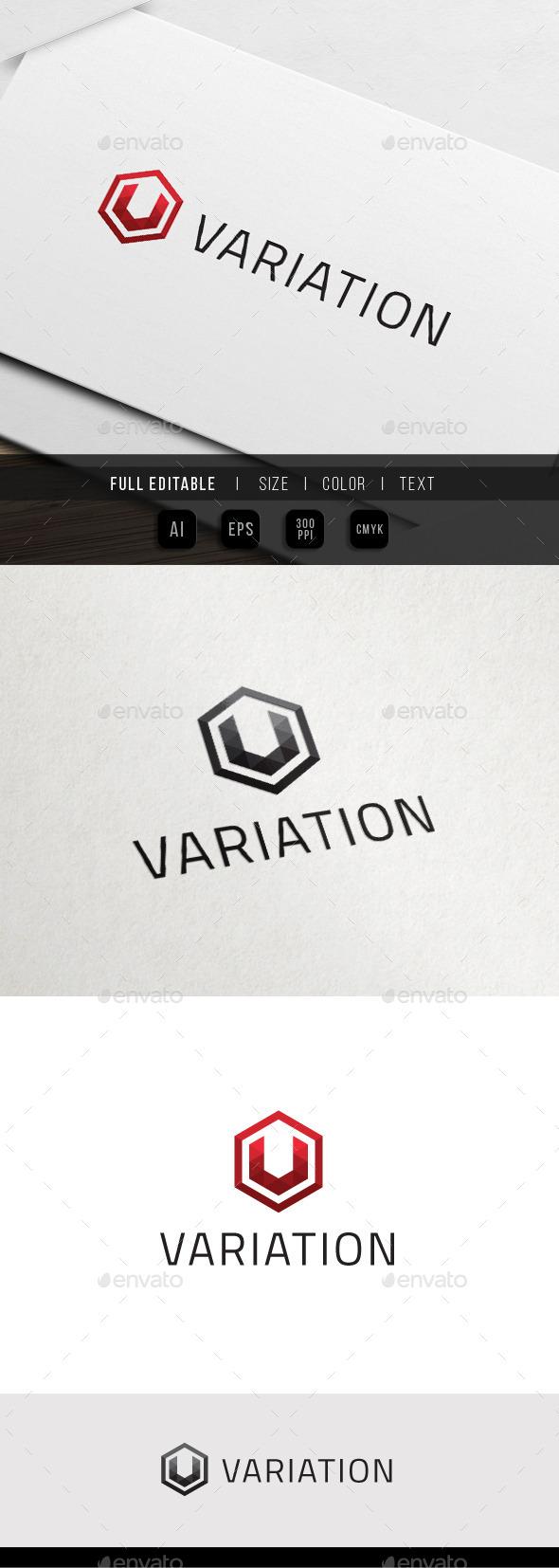GraphicRiver Hexa Variation Triangle Pixel V Logo 11372941