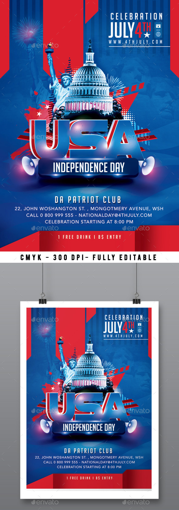 GraphicRiver 4th July Flyer 11372946