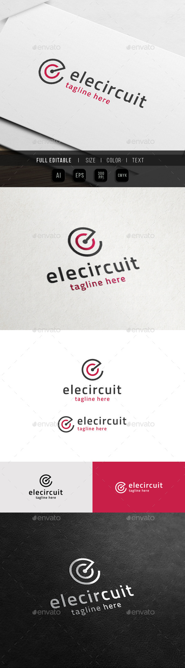 GraphicRiver Electric Circuit Creative C E Logo 11372952