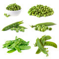 Peas Collection Isolated on White - PhotoDune Item for Sale