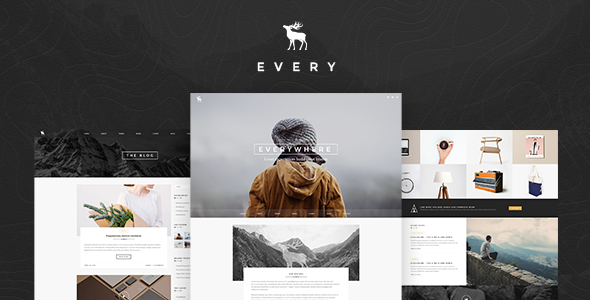 ThemeForest EVERY Creative Onepage PSD Template 11311353