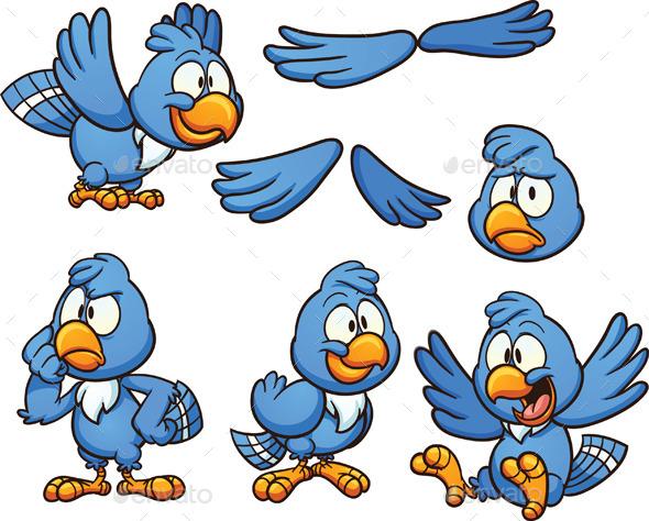 GraphicRiver Blue Bird 11373007
