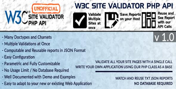 CodeCanyon W3C Site Validator Unofficial API 11373012