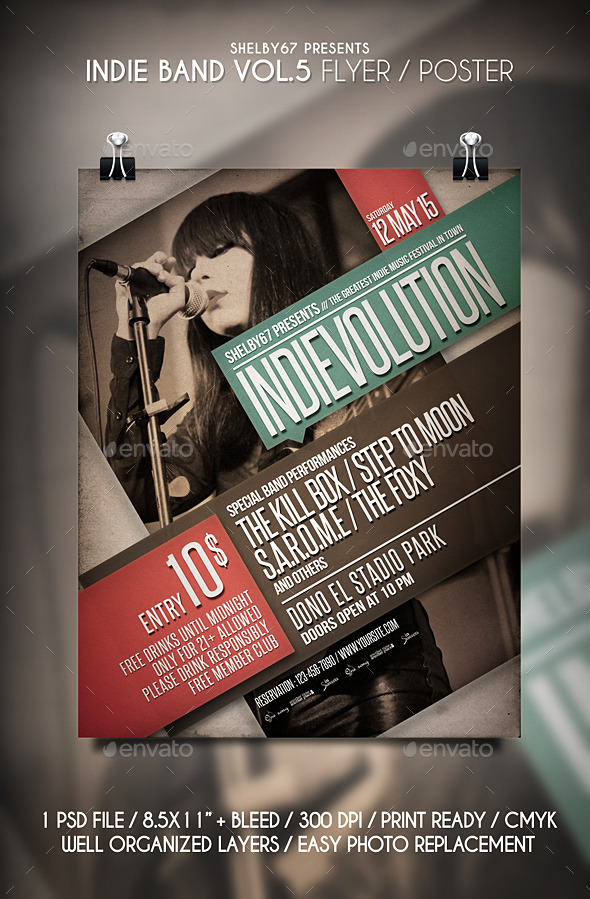 GraphicRiver Indie Band Flyer Vol 5 11373044