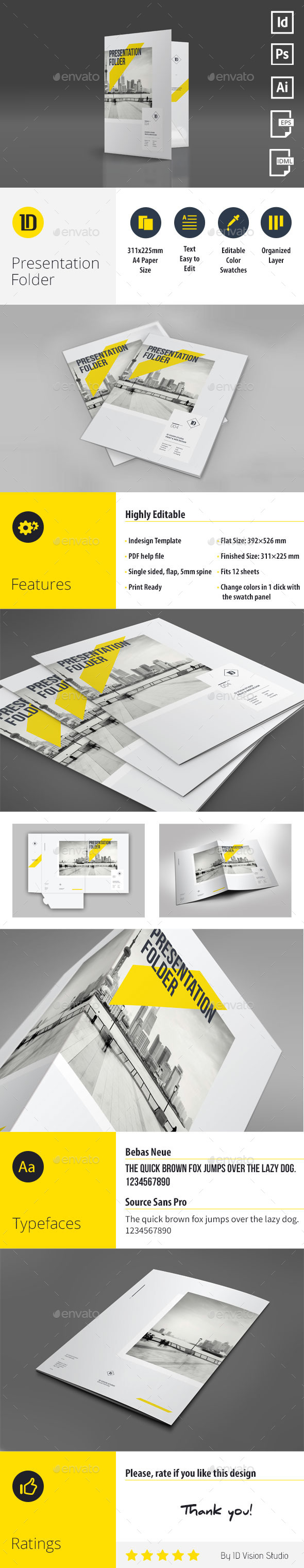 GraphicRiver A4 Multipurpose Presentation Folder 004 11373052
