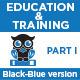 Education & Training Icons (Black-Blue) - Part 1