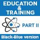 Education & Training Icons (Black-Blue) - Part 2