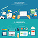 Concepts of Education and E-learning Flat Design - GraphicRiver Item for Sale