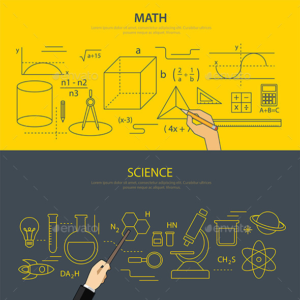 GraphicRiver Math and Science Education Concept 11373287