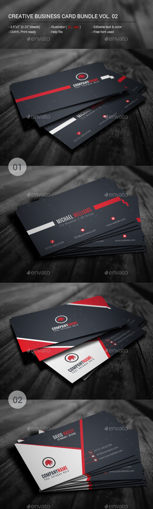 GraphicRiver Creative Business Card Bundle Vol.02 11373642